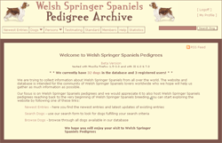 Welsh Springer Spaniels Pedigree Archive